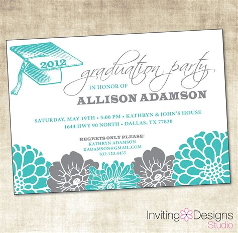 graduation invitation printable file