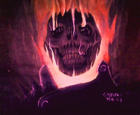 spray paint ghost rider ghost rider painting by atrafeathers on deviantart