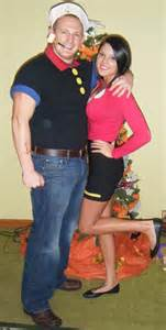 Easy Couples Halloween Costumes Popeye Amp Olive Oyl Homemade Costumes Popeye The Sailor Man Pinterest Homemade Homemade