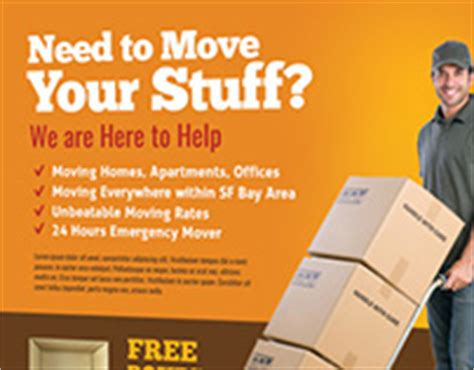 Kids Summer C Trifold Brochure On Behance Moving Company Flyer Template
