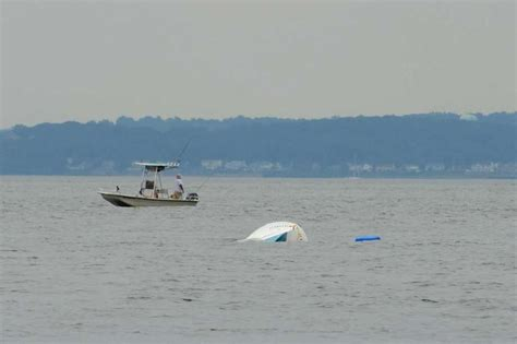 four men were fishing in a boat darien police rescues four from capsized boat darien news
