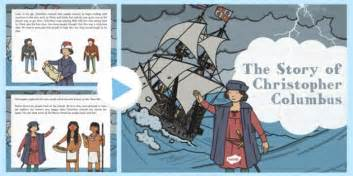christopher columbus biography for middle school the story of christopher columbus powerpoint