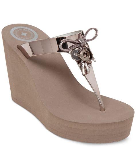 Sandal Wedges Wg15 1 bcbgeneration hank platform wedge sandals in gold matte bronze lyst