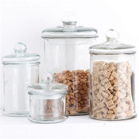 bathroom glass jars glass storage jars for the kitchen or bathroom glass