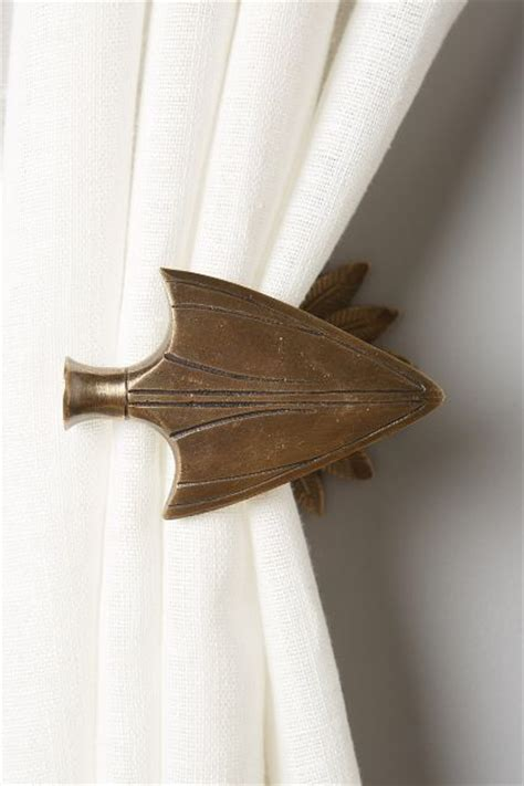 bow curtain tie backs bow arrow tieback anthroregistry home pinterest