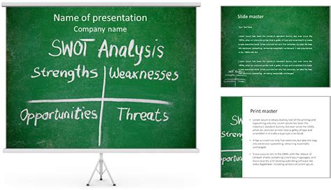 swot analysis powerpoint template backgrounds id