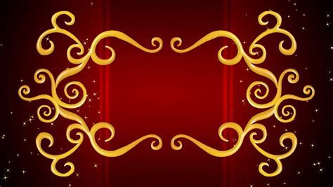 Growing Golden Elements Forming A Title Framing, Red