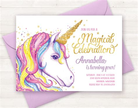 printable birthday cards unicorn unicorn invitation unicorn birthday invitation unicorn party