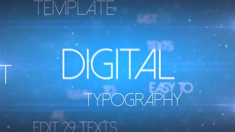 sell after effects templates digital typography
