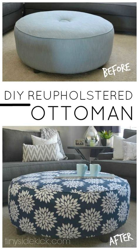 how to upholster an ottoman coffee table how to reupholster an ottoman