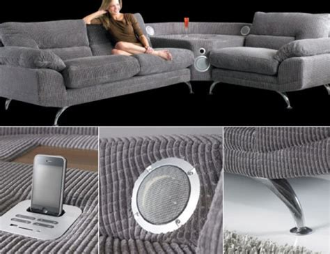 sofa mit boxen the sound sofa with integrated ipod iphone dock