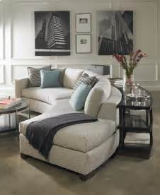 how to find the place for your curved sofa or
