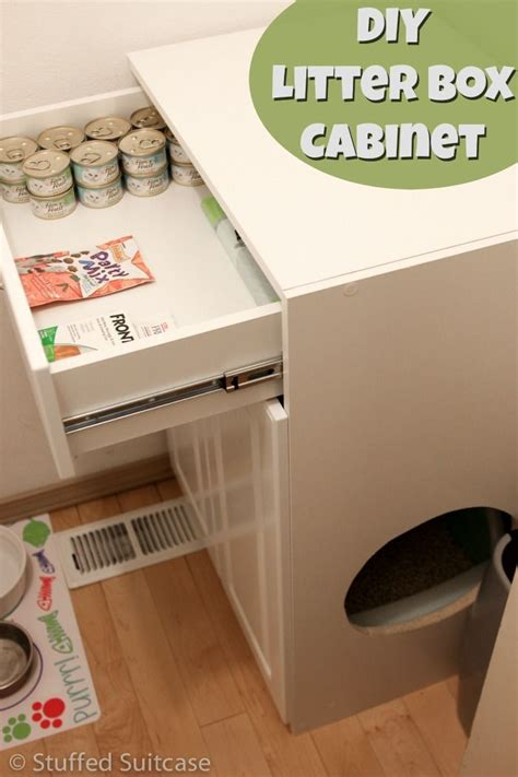 keeping litter box in bedroom diy litter box furniture cabinet laundry room cleanup