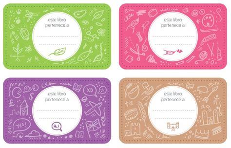 imagenes para etiquetas escolares juveniles pegatinas para libros y cuadernos para imprimir