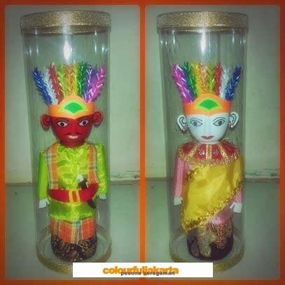 1 Pasang Boneka Ondel Ondel Betawi Murah colourful jakarta ondel ondel