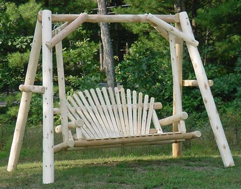 outdoor wood swings white cedar unstained love seat swing w stand