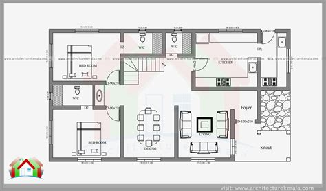bunk room floor plans 2400 square feet 4 bedroom kerala house architecture kerala