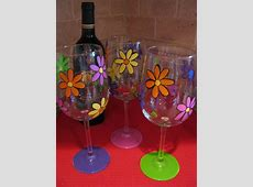Best 25+ Painted Wine Glasses ideas on Pinterest | Hand ... Easy Flower Designs For Glass Painting