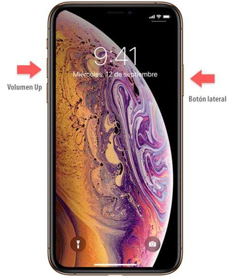 c 243 mo hacer captura de pantalla iphone xs o iphone xs max solvetic