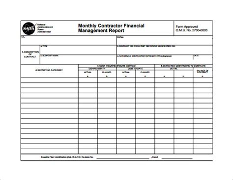 weekly financial report template monthly management report template 10 documents in pdf