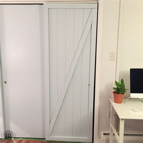 Faux Barn Door Diy Faux Barn Doors Hollow Door Makeover East Coast Creative