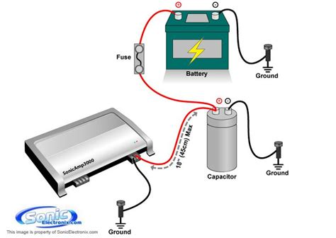 subwoofer capacitor replacement lifier and capacitor install diagram car audio cars car audio and audio