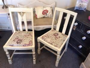 shabby chic newly upholstered chairs ebay