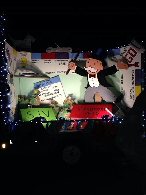 themes of monopoly board games monopoly board game theme homecoming float ideas pinterest