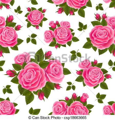 pink rose pattern clipart clip art vector of pink roses pattern vector seamless