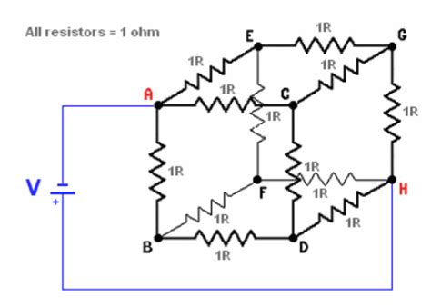 resistor cube solutions a cube is comprised of 12 identical 1 ohm resistor chegg