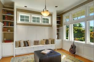 Craftsman Style Windows Decor Craftsman Style Windows Home Office Traditional With Bookcase Bookshelves Built In
