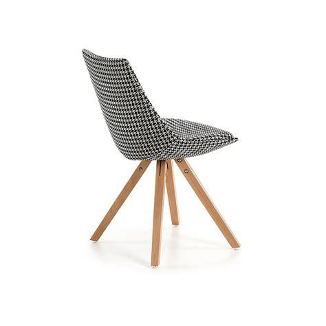 sedie in tessuto moderne sedia moderna in legno le tessuto pied de poule pau