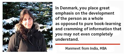 Mba In Denmark by Manmeet From India Mba Study In Denmark