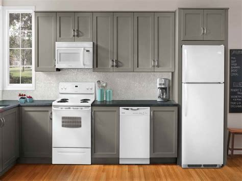 Gray Kitchen Appliances by Grey Kitchen Cabinets With White Appliances Car Interior