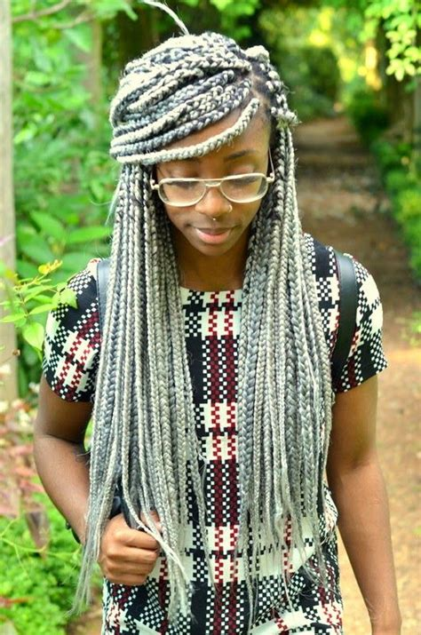 gray individual braids gray individual braids individual braids by rilbraidz