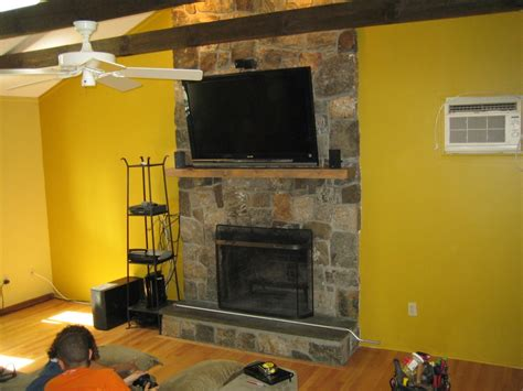 canaan ct tv install on above fireplace