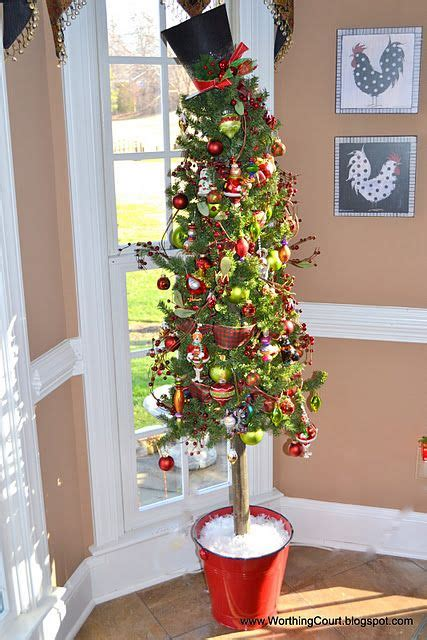 slim christmas tree in galvanized bucket stunning slim tree decorations celebration all about