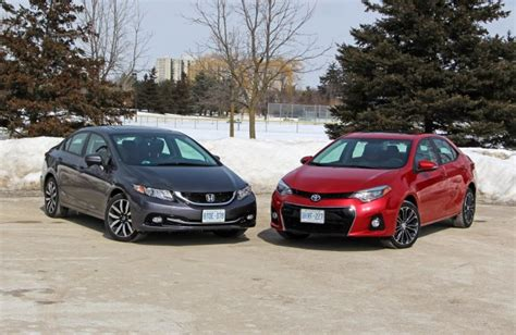 honda vs toyota comparison test 2014 honda civic vs 2014 toyota corolla