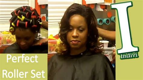 wash and set styles for black women roller wrap hairstyles for black women pictures