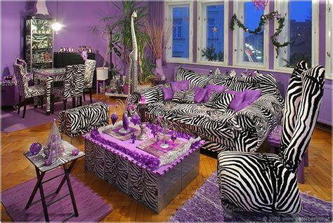 zebra stripes purple accent living room pictures