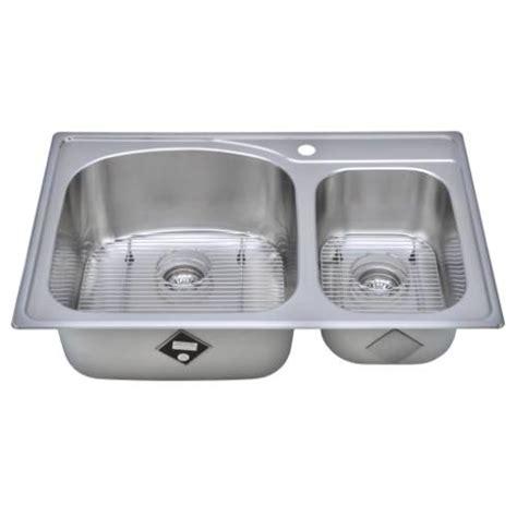 Kitchen Sink Package Sinkware 18 Bowl Topmount Stainless Steel Kitchen Sink Package Cht3322 97 1