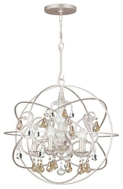 Wrought Iron Sphere Chandelier Crystorama Solaris Chandelier Wrought Iron Sphere Golden Shade Contemporary Chandeliers By