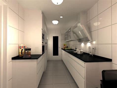 soluciones  cocinas estrechas  alargadas decorar cocina