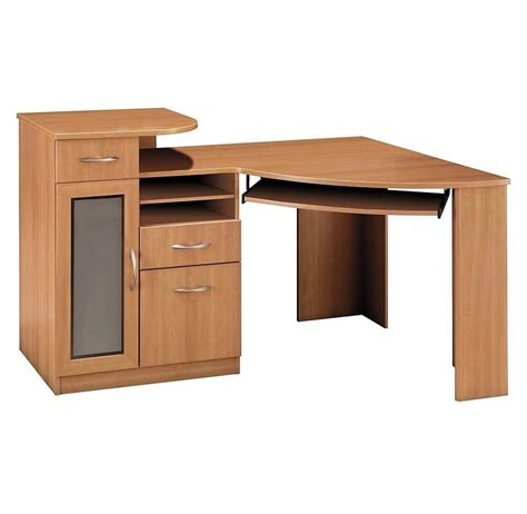 Solid Wood Home Office Desks Sweet Furniture Home Office Brown Solid Wood Office Computer Desk Throughout Small Wooden