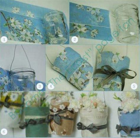 decorare bicchieri di vetro decorare vasi barattoli bicchieri stoffa e palloncini