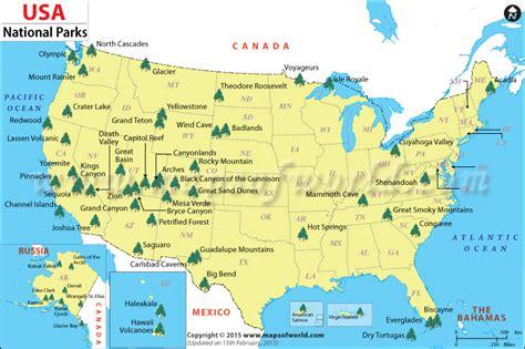 national parks of usa map mis aventuras por el mundo