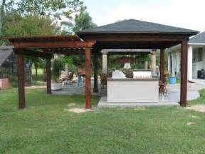 tin roof outdoor shelter wood patio cover pergola