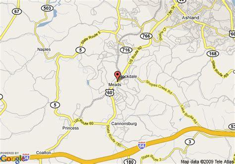 kentucky map ashland map of ashland knights inn catlettsburg