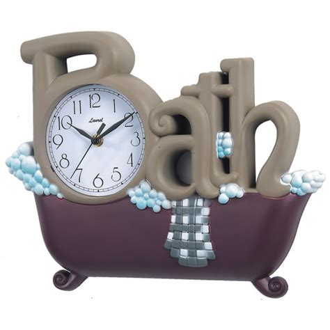 bathtub clock new haven novelty bath wall clock in brown and burgundy