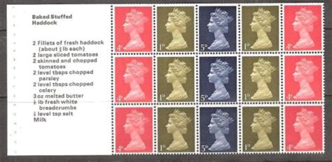 Gb Sts For Cooks Booklet Panes 1969 Fd Cover 1 panes st collector co uk the st collecting resource for who are serious about
